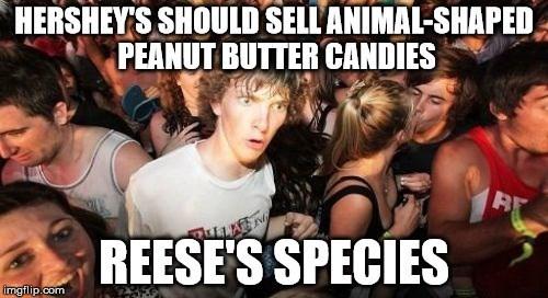 People - HERSHEY'S SHOULD SELLANIMAL-SHAPED PEANUT BUTTER CANDIES REESE'S SPECIES imgflip.com