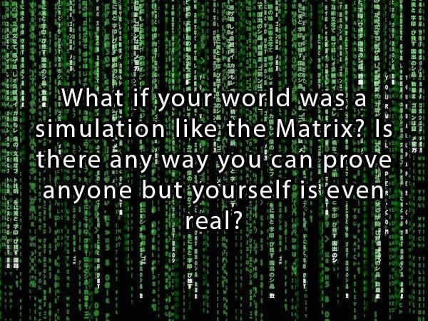 the matrix riddle paradox