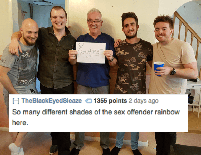 Community - oast ME CROSA MAE H TheBlackEyedSleaze 1355 points 2 days ago So many different shades of the sex offender rainbow here.