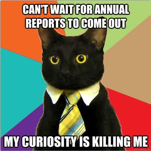 business cat - Cat - CAN'T WAIT FOR ANNUAL REPORTS TO COMEOUT MY CURIOSITY IS KILLING ME quickmemexcom