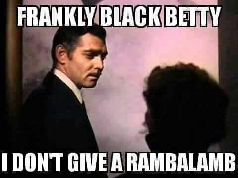 Photo caption - FRANKLYBLACK BETTY IDONT GIVE ARAMBALAMB