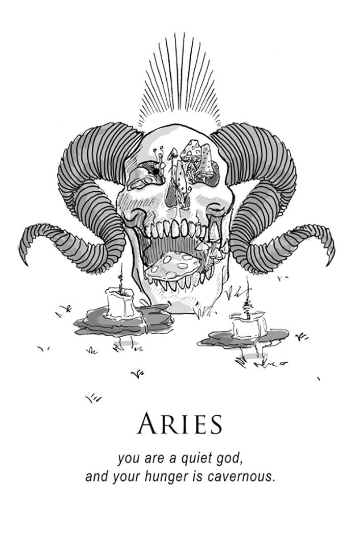 Illustration - ARIES you are a quiet god, and your hunger is cavernous