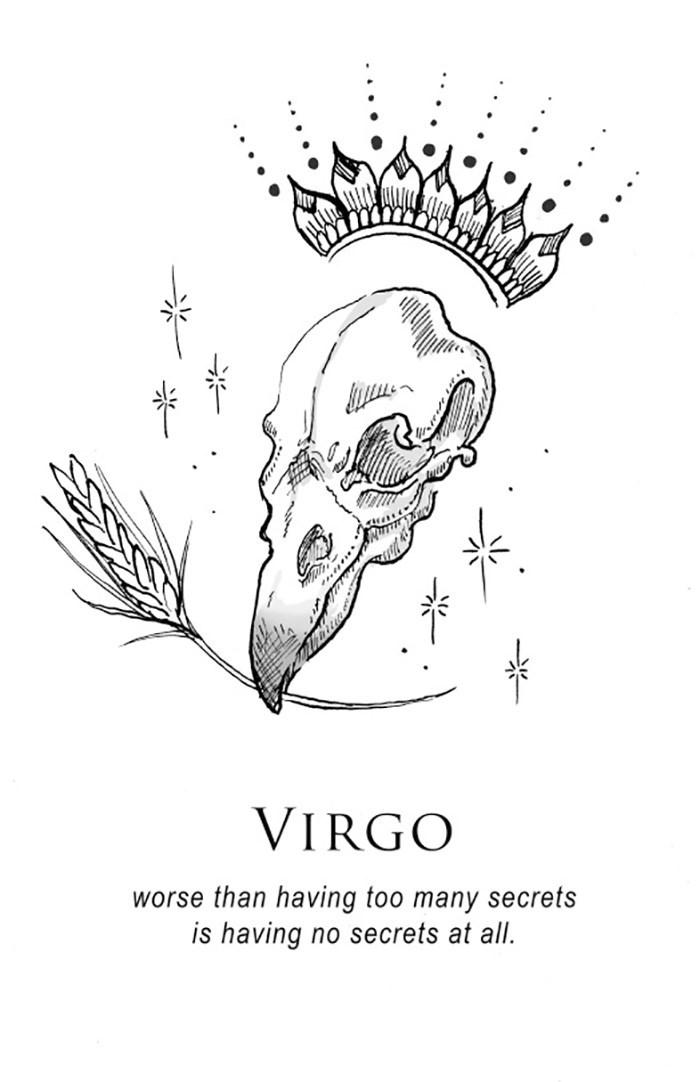 Line art - VIRGO worse than having too many secrets is having no secrets at all