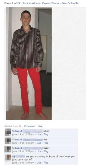 Clothing - Photo 3 of 24 Back to Album- Owen's Photos Owen's Profile Added June 14 Comment Like Sidward June 14 at 3.27pm-Like Flag Sidward June 14 at 3.27pm- Like Flag Sidward June 14 at 3.27pm-Like Flag what the are you standing in fromt of the closet you just came out of? June 14 at 5:44pm-Like Flag