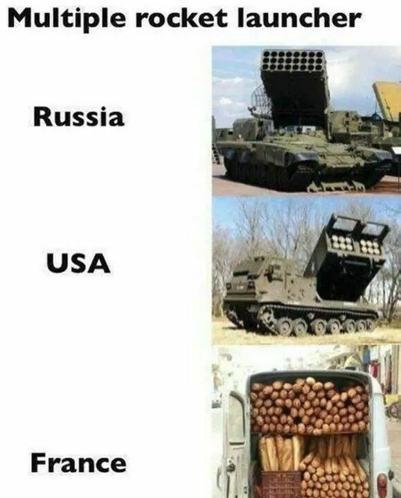 Funny meme making fun of France.