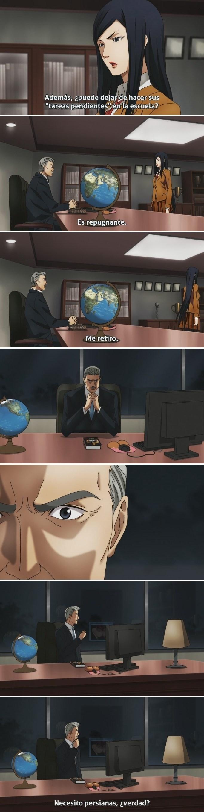 meme de anime sobre los reflejos traicioneros