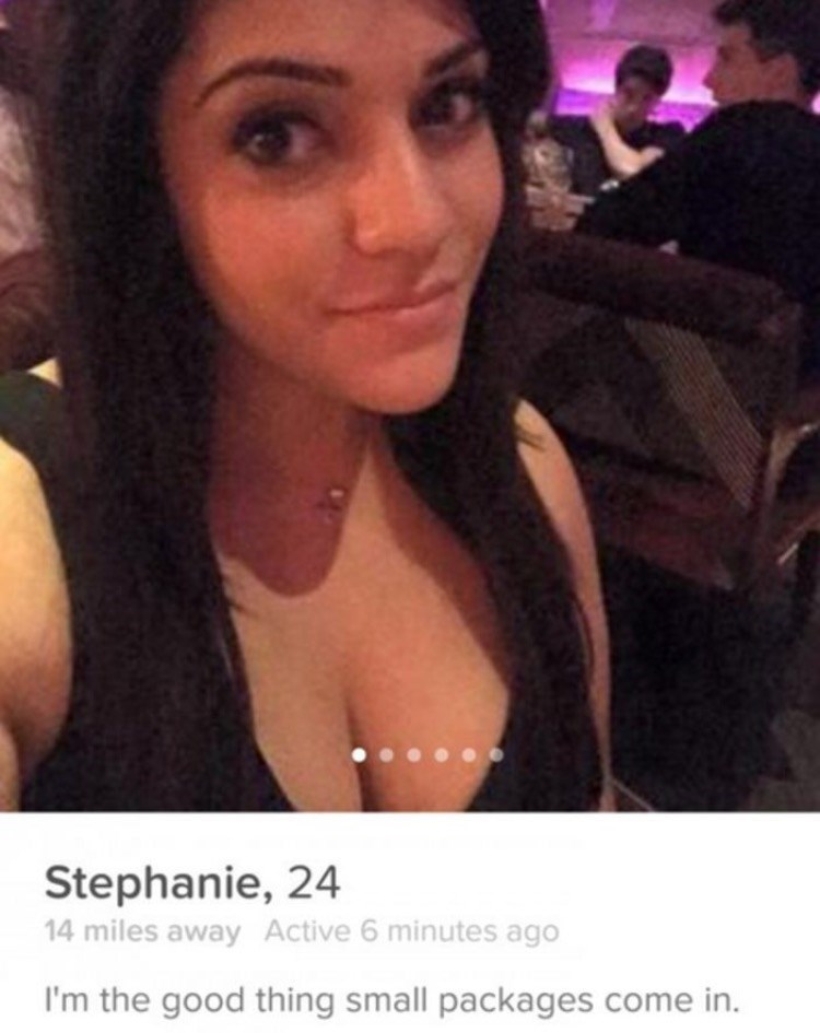 Hair - Stephanie, 24 14 miles away Active 6 minutes ago I'm the good thing small packages come in.