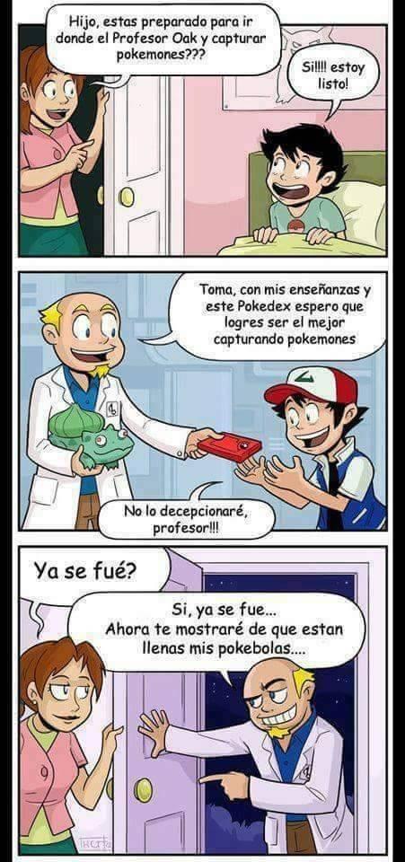 verdaderas intenciones del Profesor Oak de pokemon