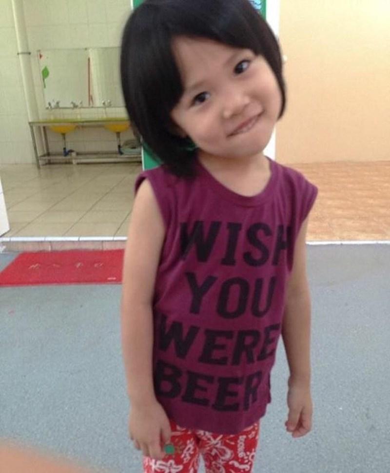 t-shirt - Child - VISH YOU WERE BEER