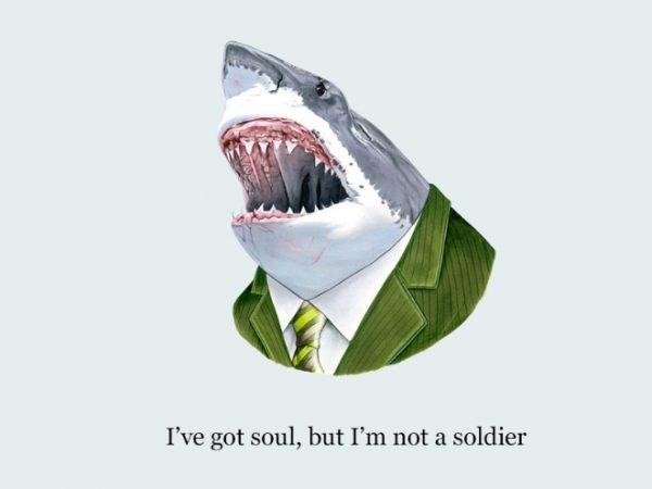 Great white shark - I've got soul, but I'm not a soldier