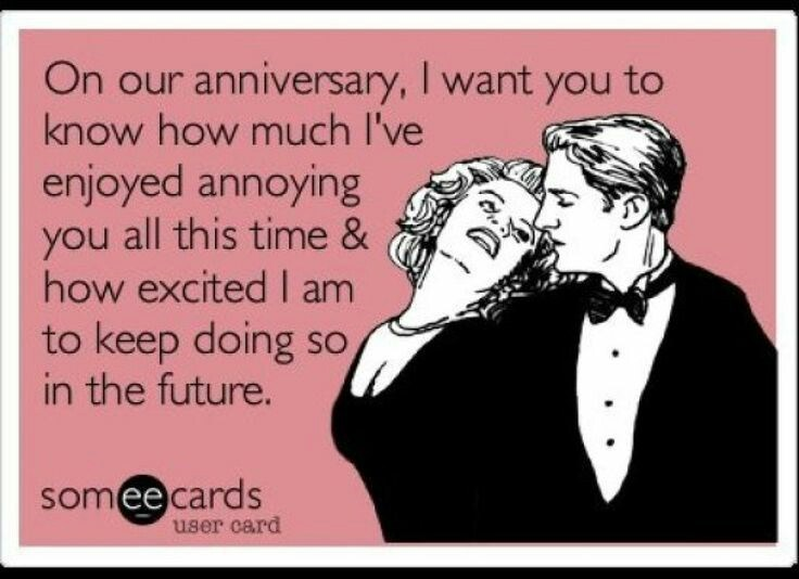 Text - On our anniversary, I want you to know how much I've enjoyed annoying you all this time & how excited I am to keep doing so in the future. SO someecards user card