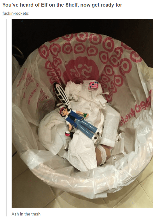 Astronaut - You've heard of Elf on the Shelf, now get ready for fuckin-rockets: Ash in the trash ercow
