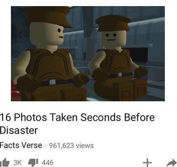 Monday dank meme with screenshot from the LEGO Star Wars game presented as if it's part of a YouTube compilation video