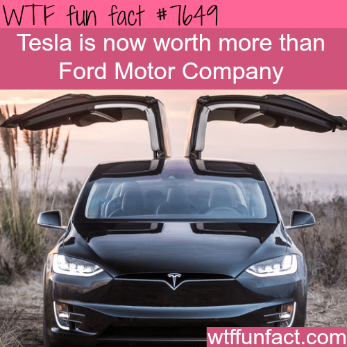Motor vehicle - WTF fun fact #T641 Tesla is now worth more than Ford Motor Company wtffunfact.com