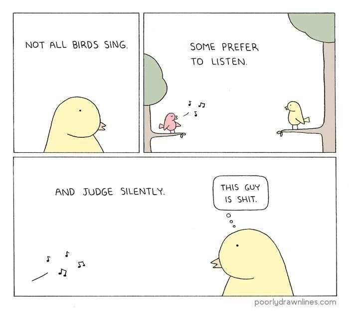 webcomics about birds singing