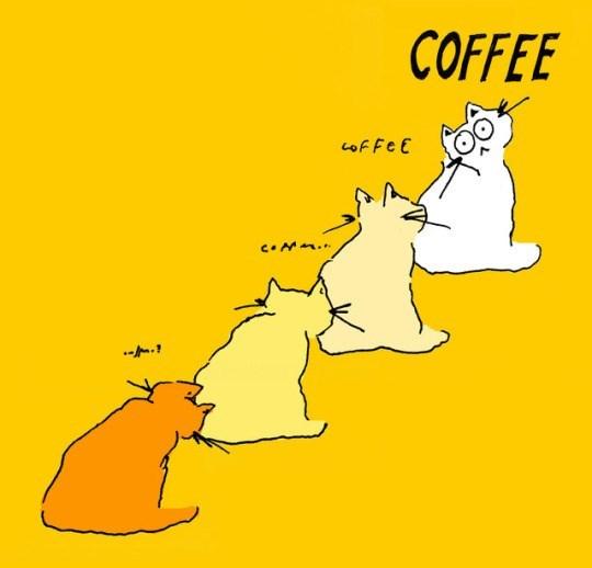 Cartoon - COFFEE cof Fe E