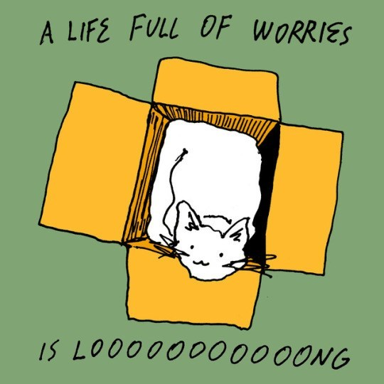 Text - A LIFE FULL OF WORRIES IS LOO00000000ONG