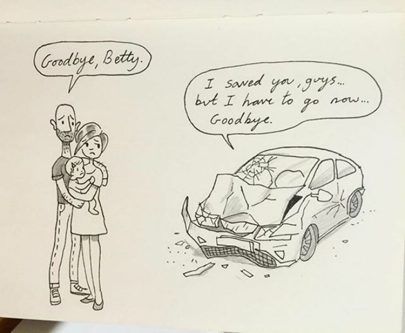 family doodle - Cartoon - Goadbye, Betty I Saved ya 9ys but I have to now... go Goodbye