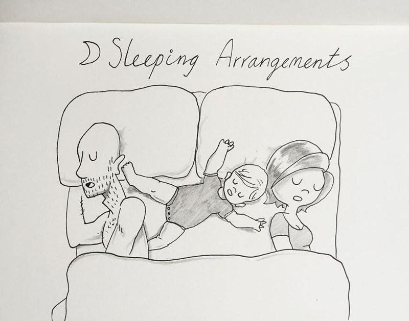 family doodle - Cartoon - Slep ing Hrangenents
