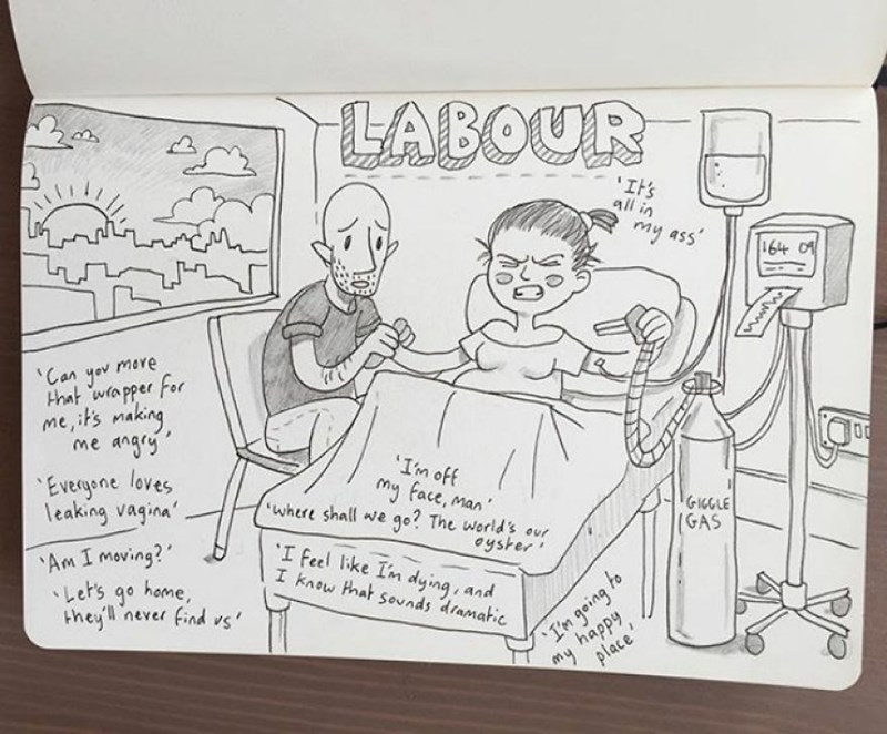 family doodle - Cartoon - LABOUR 'It's all in my ass 164 01 'Can yov mere that wapper For me,its making me angry Evecgene loves leaking vagina 'Im off my face, man go? The world's our I feel ke Im dying, and where shall we GIGGLE (GAS Am I moving? レer's go home, they never find vs' oyster I know that sounds dramatic to my happy place I'm geing