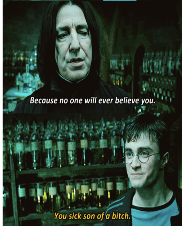 3-panel crossover meme of Harry Potter and Brooklyn Nine Nine of harry potter getting angry