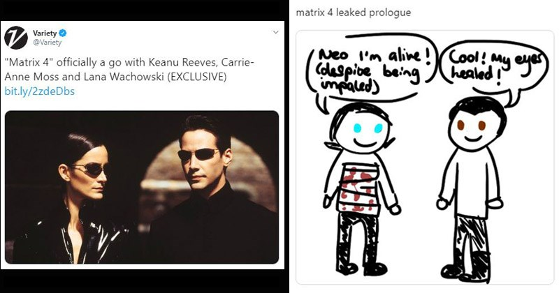 Reaction memes and tweets about 'Matrix 4'