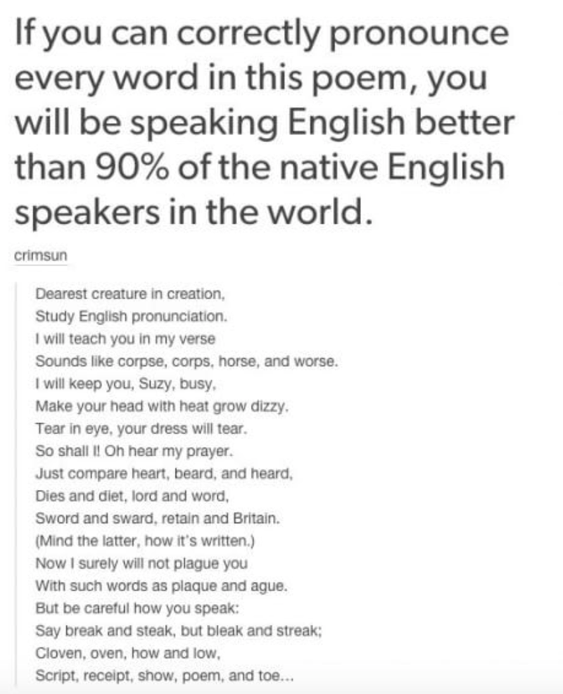 lame poem trying to let people prove how smart they are to themselves