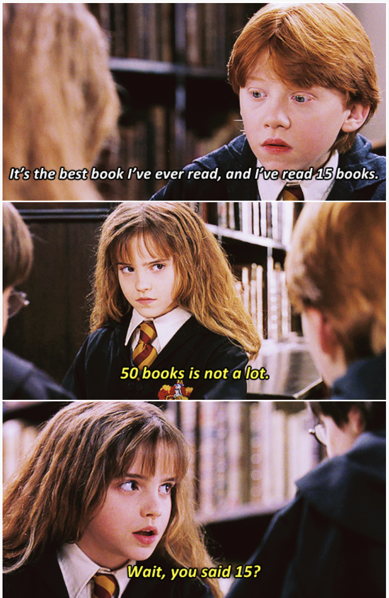 Hair - It's the best book I've ever read, and Pve read 15 books. 50 books is not a lot. Wait, you said 15?