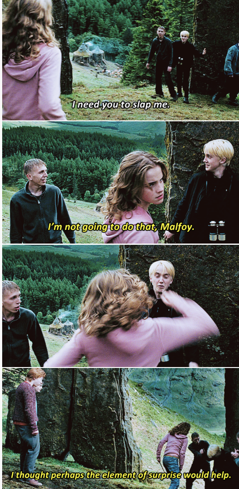 People in nature - 1need you to slap me I'm not going to do that, Malfoy. Ithought perhaps the element of surprise would help.