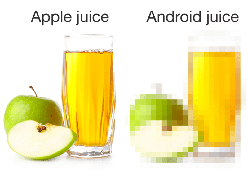 Funny meme about apple iphones vs androids.
