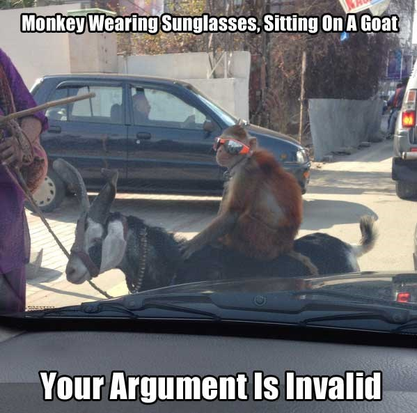 goat meme about validating your argument with funny pictures