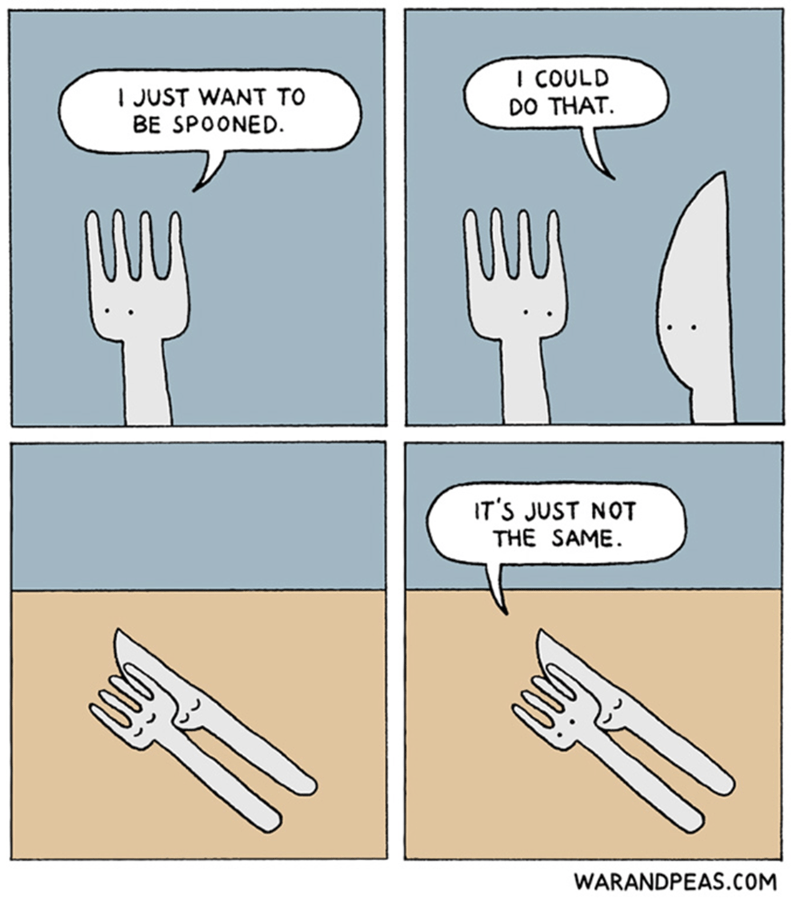 Cutlery - ICOULD JUST WANT TO BE SPOONED DO THAT IT'S JUST NOT THE SAME WARANDPEAS.COM
