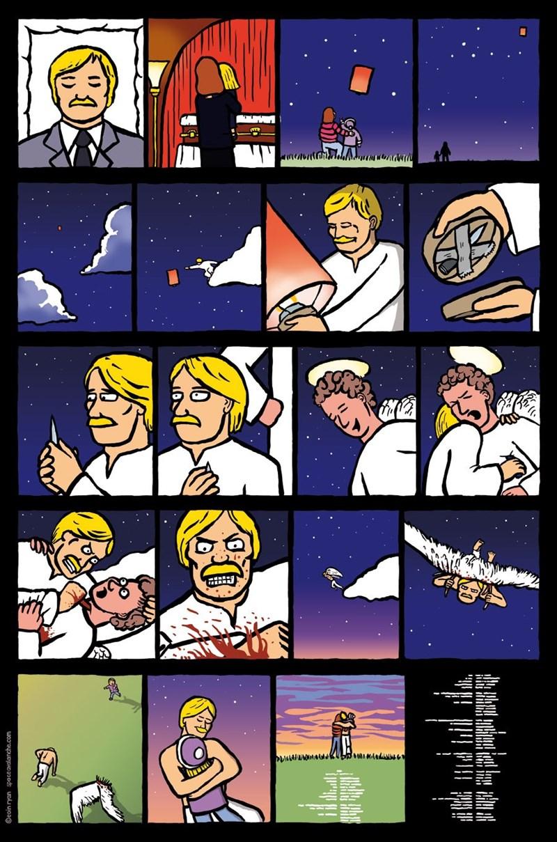 comic de padre que mata a angel para verse nuevamente con su hijo