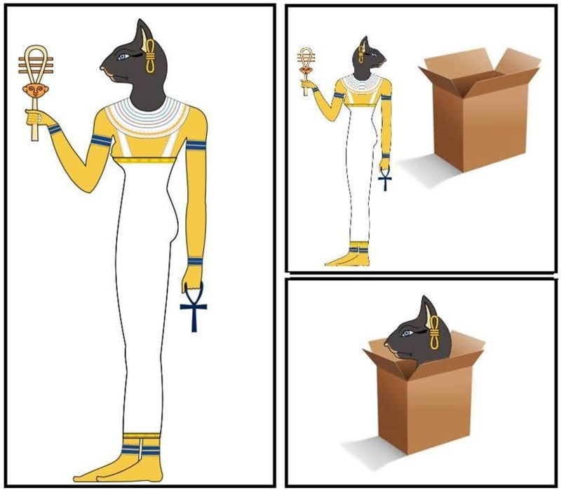 Egyptian god, captured by her own cat likeness