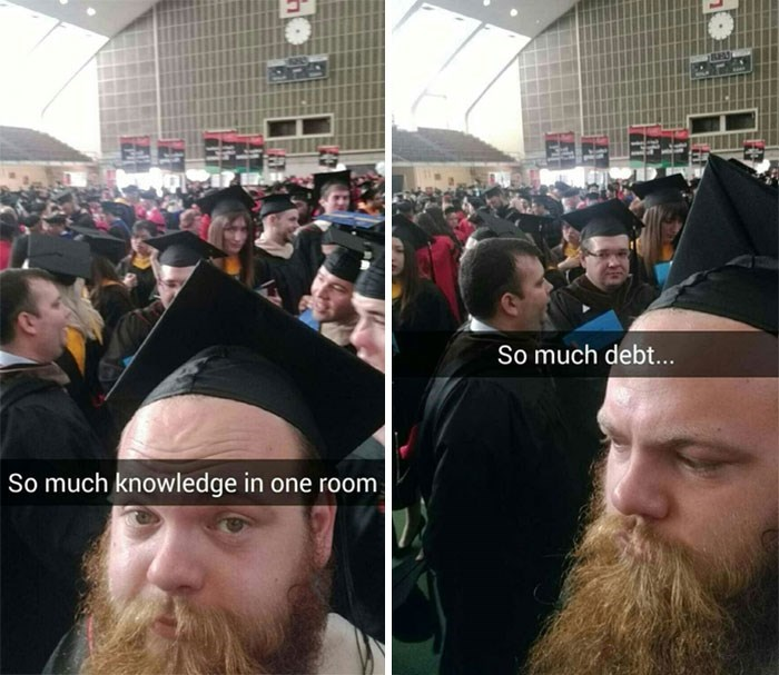 Facial hair - So much debt... So much knowledge in one room