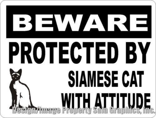Font - BEWARE| PROTECTED BY SIAMESE CAT WITH ATTITUDE Destgn hmage Property Sala Graphics,Inc.