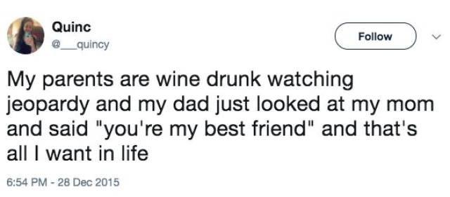 Happy parents tweet