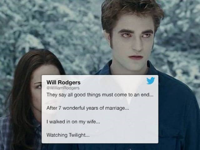 Tweet of man who walked in on his wife watching Twilight