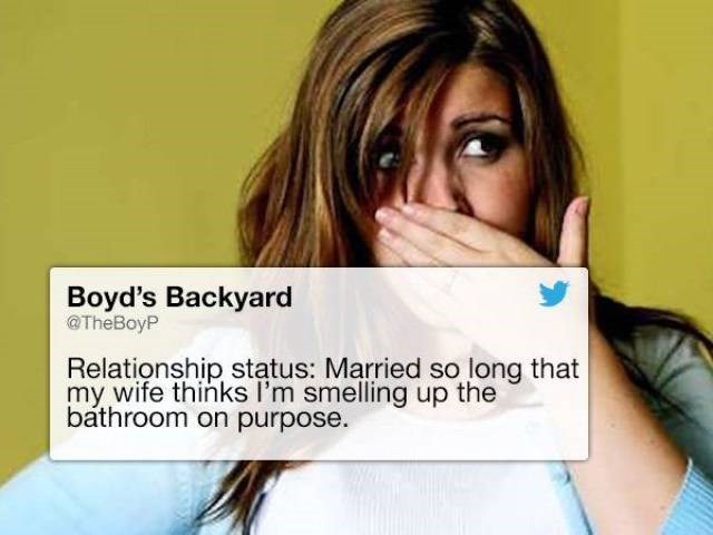 Tweet about wife and husband stinking up the bathroom