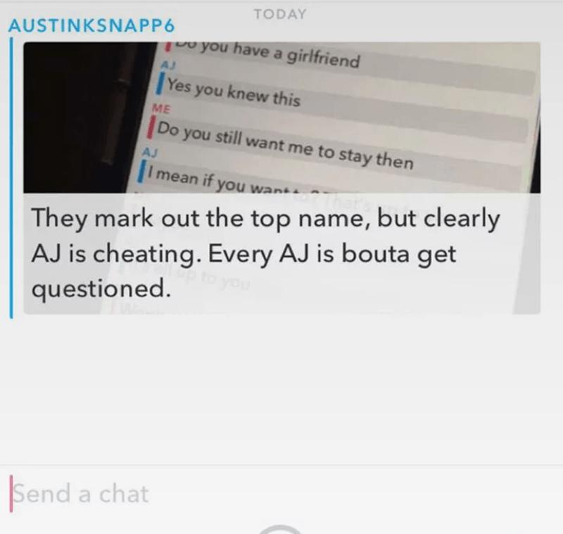 Snapchat cheating 5 Ways