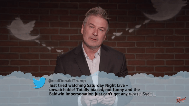 Text - @realDonaldTrump Just tried watching Saturday Night Live unwatchable! Totally biased, not funny and the Baldwin impersonation just can't get any worse, SadEL -