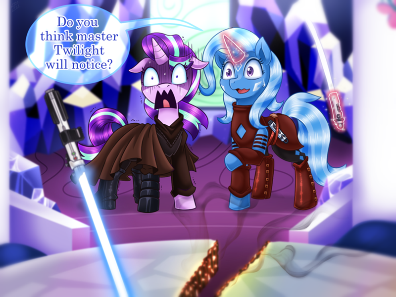 the great and powerful trixie star wars vavacung starlight glimmer ponify - 9080027904