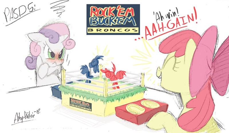 artsy-fartsie Sweetie Belle apple bloom rock em sock em robots ponify - 9080028672