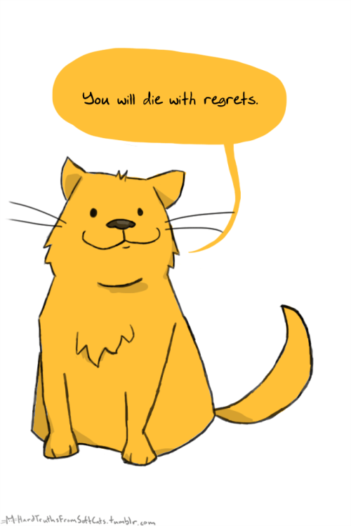Cartoon - You will die with regrets MHardTeuths FromsakbCuts,tmmble, com