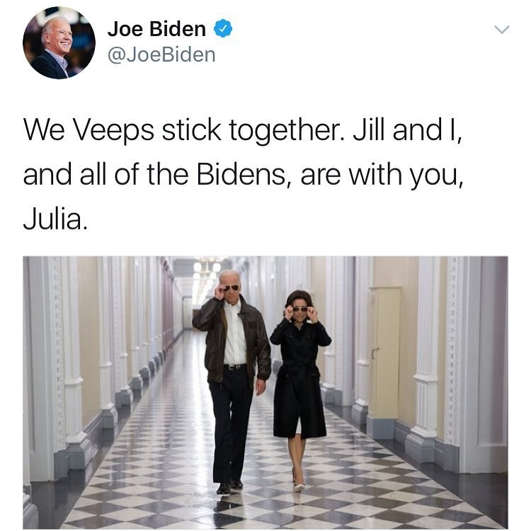 Wholesome tweet from Joe Biden to Julia Louis-Dreyfuss about her breast cancer.