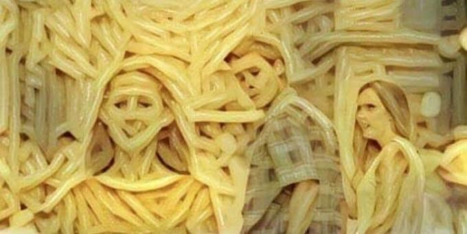 spaghetti ostagram of Distracted Boyfriend