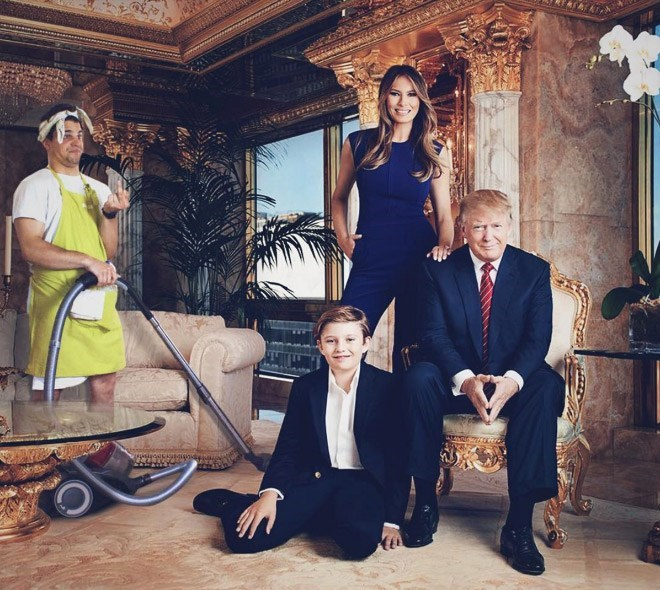 Average Bob just cleaning up the place with Trump and family