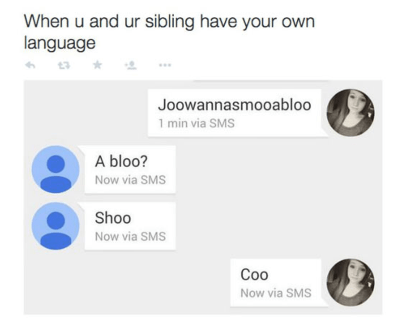 Sibling language