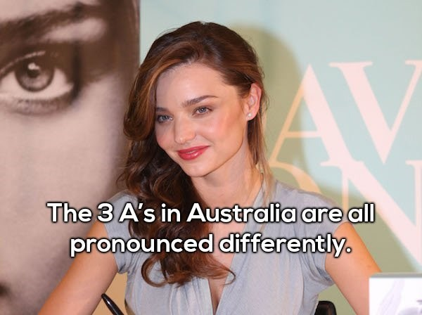 Hair - The 3 A's in Australia are all pronounced differently