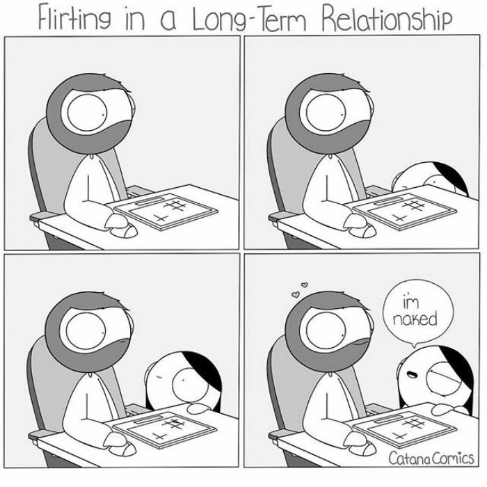 Webcomic about flirting in long term relationship
